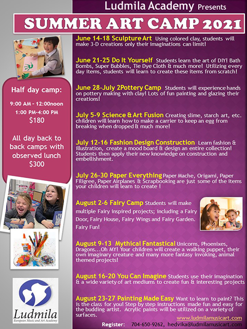 Summer Art Camps 2021