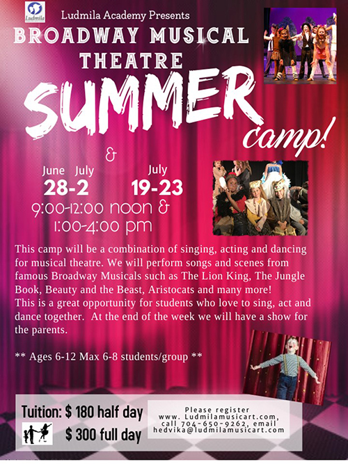 Summer Theatre Camps 2021