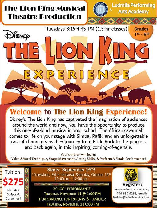 The Lion King Lakeside Charter